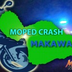 Moped crash, Makawao. Graphics by Wendy Osher/Maui Now.