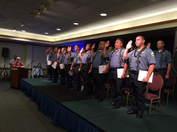 Maui Basic Corrections Training  Graduation, Nov. 7, 2014. Photo courtesy Toni Schwartz.