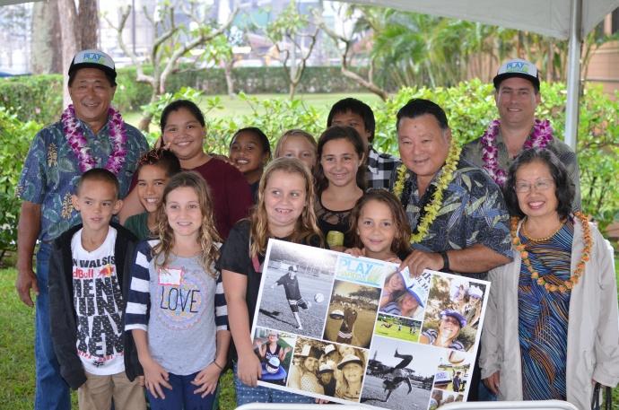 Awards ceremony with Maui Mayor Alan Arakawa.