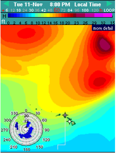 Tuesday's Swell / Image: Surfline.com