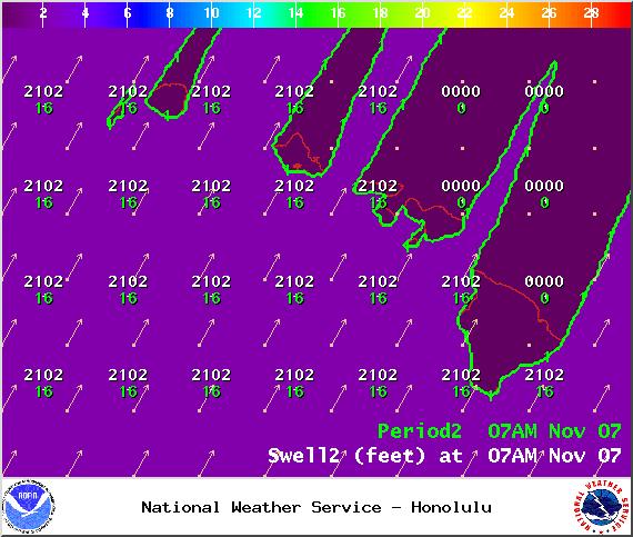 Swell 2 - Image: NOAA / NWS