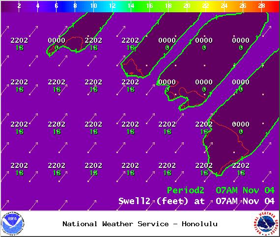 Swell 2 - Tuesday Nov. 4, 2014 / Image: NOAA / NWS