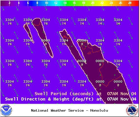 Swell 1 - Tuesday Nov. 4, 2014 / Image: NOAA / NWS