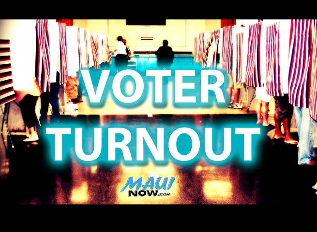 Voter Turnout Down, Maui at 52%