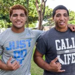 "Maui High School defensive brothers Alexander ""Moana"" Vainikolo and Atunaisa ""Leka"" Vainikolo are not ready to end their senior seasons on Saturday at Aloha Stadium. Photo by Rodney S. Yap."