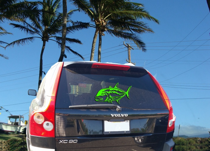 Vehicle decal. Maui Now image.