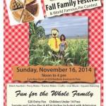 Fall Family Festival & World Famous Pie Contest, Nov. 16
