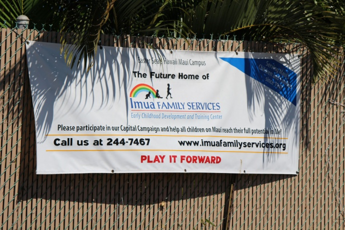 Future home of Imua Family Services on Wākea Avenue in Kahului. Photo by Wendy Osher.