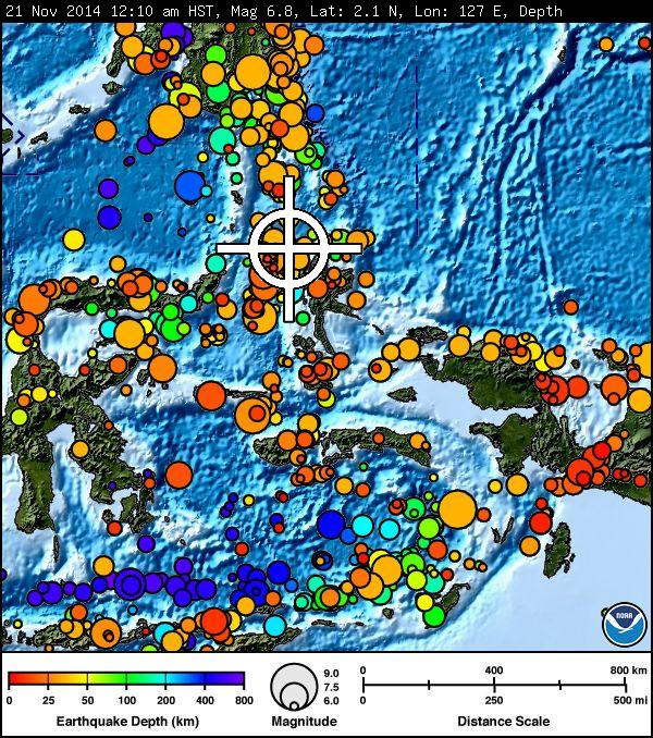 Indonesia earthquake imagery courtesy Pacific Tsunami Warning Center.