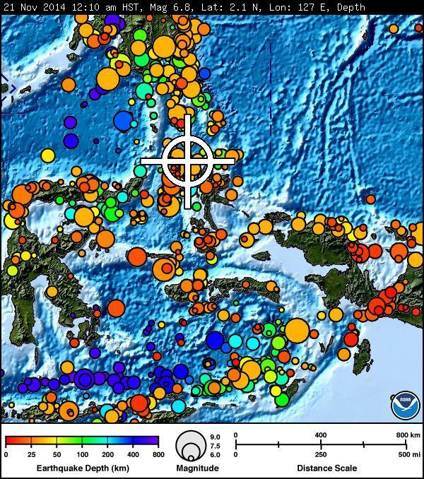 Indonesia earthquake imagery courtesy Pacific Tsunami Warning Center.