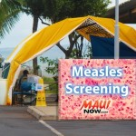 Mobile Measles Treatment Area Set Up as Precaution