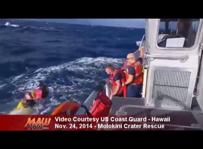 Molokini rescue, Nov. 24, 2014. Image courtesy US Coast Guard.