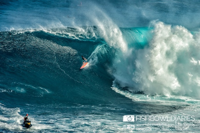 Tyler Larronde surfing Pe'ahi (Jaws) 11/12/14 - Image: Fish Bowl Diaries