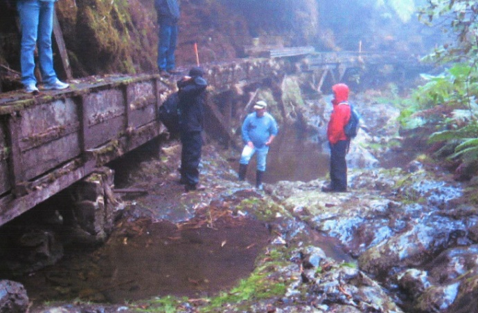 Waikamoi Flume on the West end near the Waikamoi Stream.  Photo courtesy: Draft Environmental Assessment, and Munekiyo & Hiraga, prepared for the County of Maui Department of Water Supply.