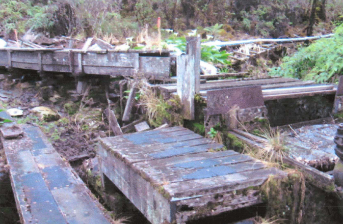 Old Waikamoi Flume. File photo courtesy: Draft Environmental Assessment, and Munekiyo & Hiraga, prepared for the County of Maui Department of Water Supply in May 2012.