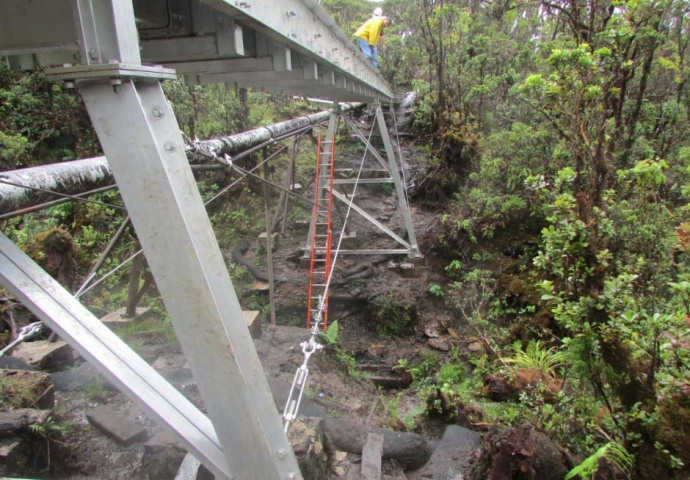 Waikamoi flume replacement. Photo courtesy Maui Department of Water Supply.