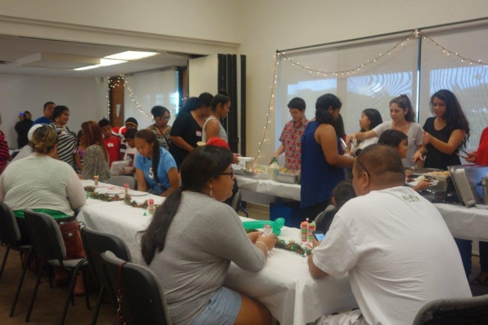 On December 13, HUGS partnered with A Keiki's Dream and the Maui community to throw a holiday party to remember at the Cameron Center in Wailuku.  Courtesy photo.