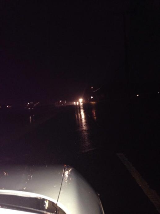 River next to Kaunakakai town overflowed its banks / Image: Waiehu Momndad on FB