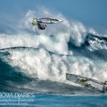 Levi Siver and Morgan Noireaux yesterday at Ho'okipa / Image: Sofie Louca of Fish Bowl Diaries