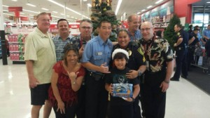 Shop with a Cop, 2014. Photo 12/7/14, courtesy Maui Police Department.