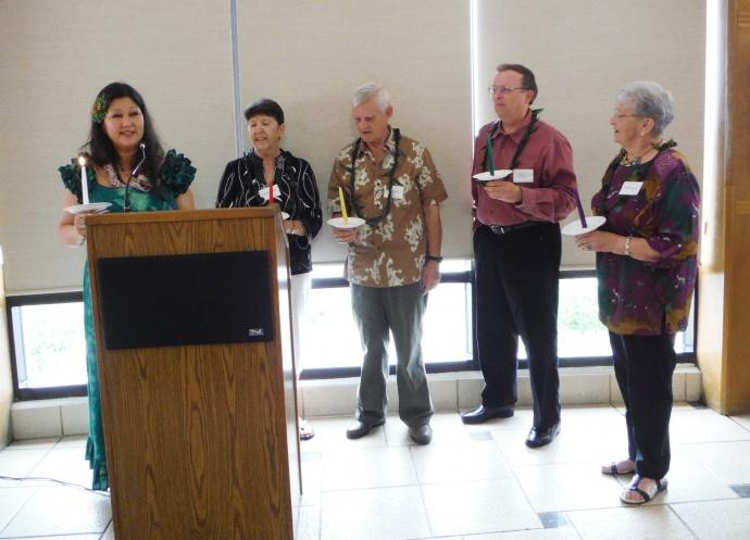 Installation Hospital Auxiliary Officers:  New officers for 2015 are Linda Chong–Treasurer, John Clark - Secretary; Karl Stoerker - Vice President; and Amy Hanlon –President.