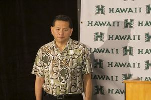 University of Hawaii Athletic Director Ben Jay annouced his resignation Tuesday. Jay will continue to run UH athletics and be paid his current $293,000-a-year base salary through the end of June, as long as he keeps working at UH. Photo by Lyle Amine / Ka Leo O Hawaii.