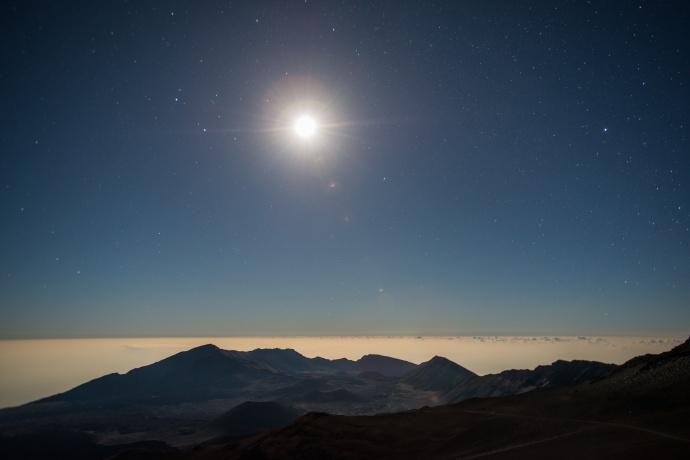Haleakalā Moon / Image: Chris Archer
