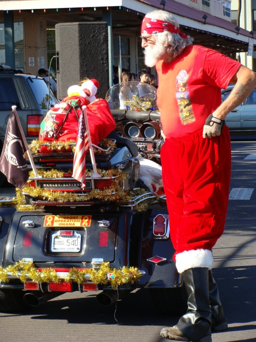 Maui Street Bikers United for their Toys for Tots Motorcycle run and parade.  File photo by Wendy Osher.