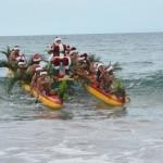 PHOTOS: Santa Arrives on Maui by Canoe