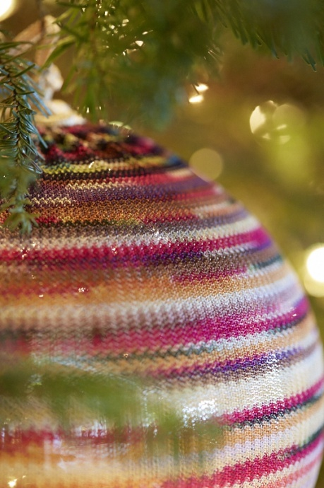 The Missoni tree, which is the only luxury-brand themed tree on the island and the only one of its kind in the world, is located in the Resort's lobby and open to the public for viewing. Courtesy of Four Seasons Resort.