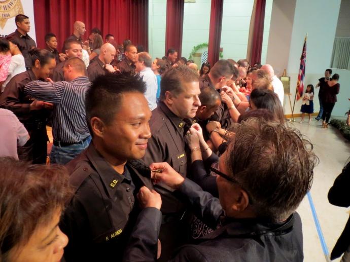 Pinning ceremony, deputy graduation. Photo courtesy Department of Public Safety.