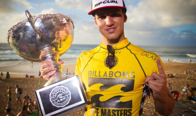 World No. 1 Gabriel Medina made history Friday as the first World Champion from Brazil. Photo by ASP / Laurent Masurel.