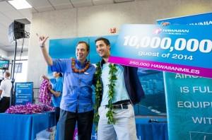 President & CEO Mark Dunkerley with Harrison Matthews, courtesy photo.