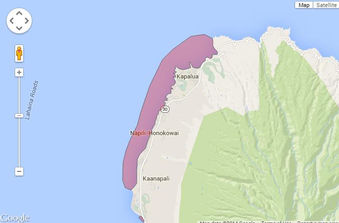 Honolua to Kaanapali brown water
