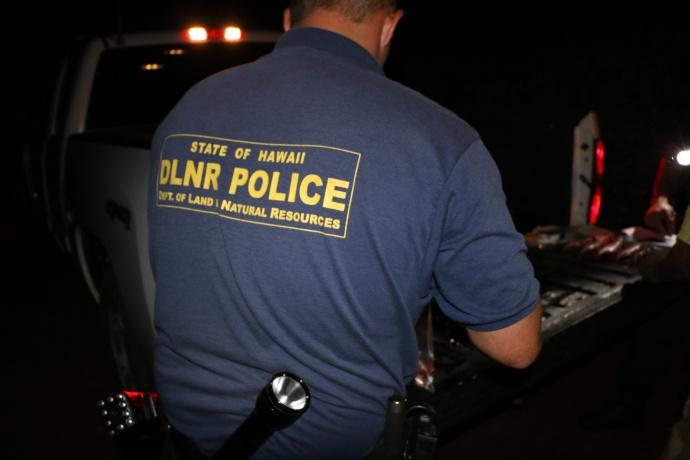 DLNR Enforcement. File photo courtesy DLNR Enforcement.