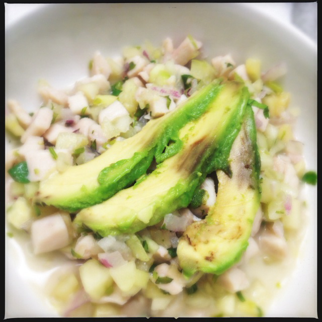 The Ceviche is lovely… minus the ick factor of the rotten avocado. Photo by Vanessa Wolf