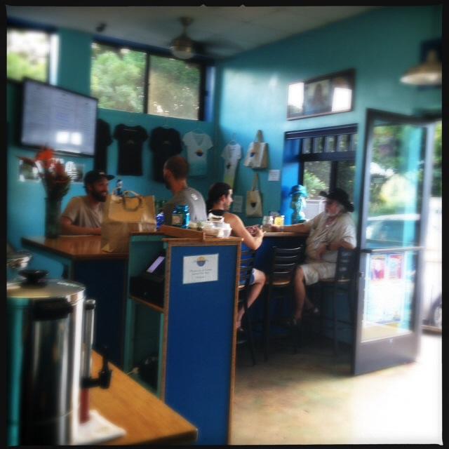 "The restaurant's ""bar."" Photo by Vanessa Wolf"