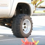 Lifted truck with wide tires. Photo by Wendy Osher.