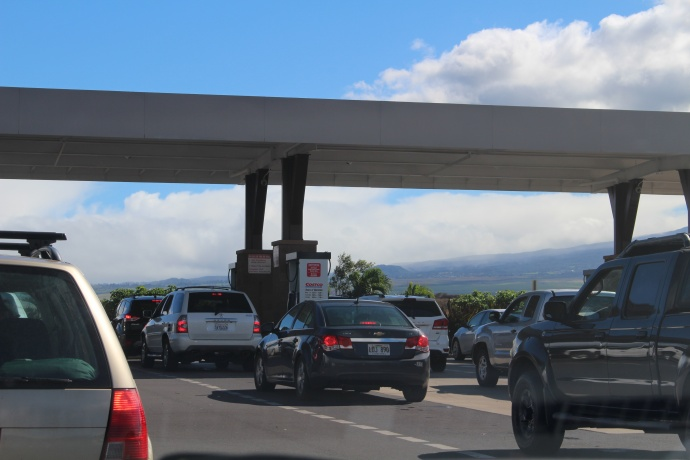 Costco Gas Kahului. Dec. 18, 2014. Photo by Wendy Osher.