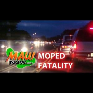Maui moped fatality. Maui Now graphics.