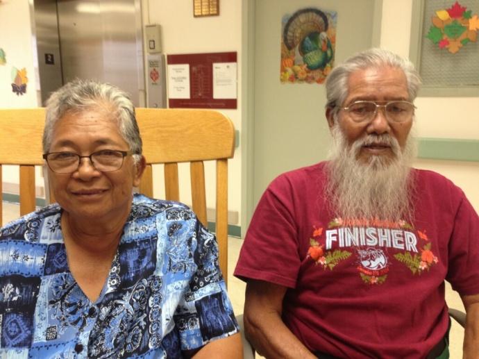 Mahana Santa (right) and wife Barbara. Family photo.