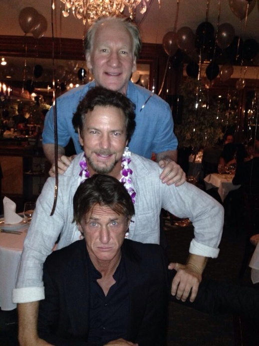 Bill Maher and celebrity amigos Eddie Vedder and Sean Penn. Courtesy image