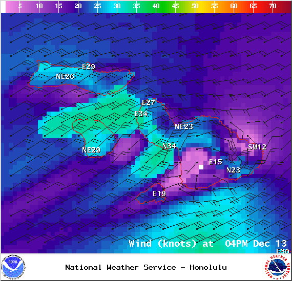 Saturday 4 p.m. - Image: NOAA / NWS