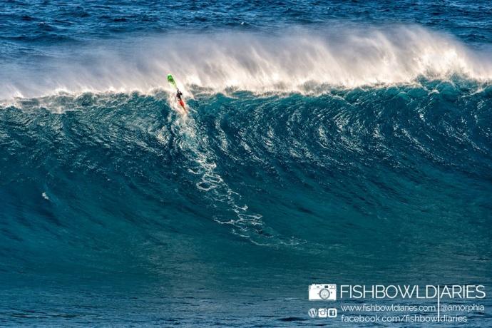 Nano Messera at Peahi (Jaws) 12/7/14 - Image: Sofie Louca / Fish Bowl Diaries