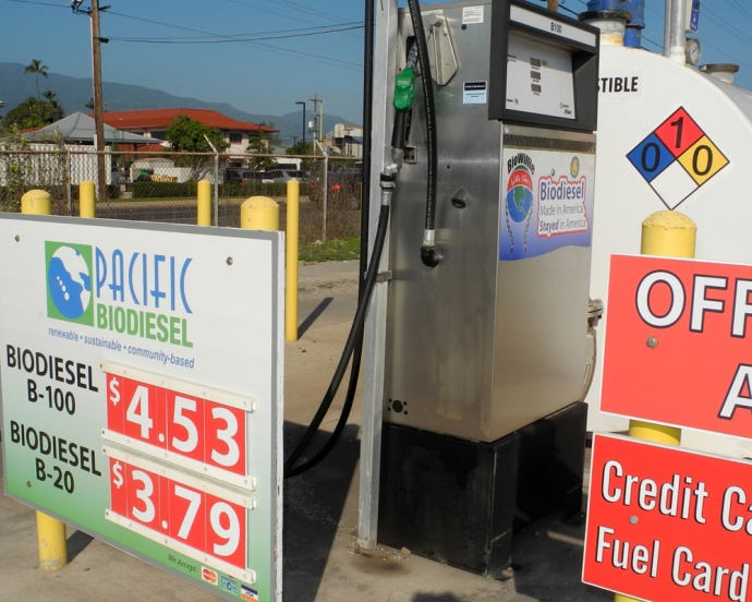 Pacific Biodiesel's Hobron fueling station.  Courtesy photo.
