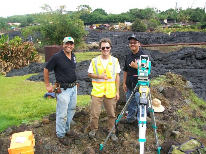 Dr. Ryan Perroy of UH Hilo and Hawaiʻi CC GIS Coordinator Victor Rasgado. Photo courtesy UH Maui College.