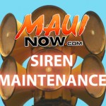 Siren Maintenance. Graphics by: Wendy Osher / Maui Now.