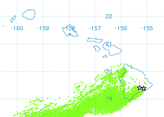 Vog Forecast for 12/10 in the afternoon / Image: UHSOEST