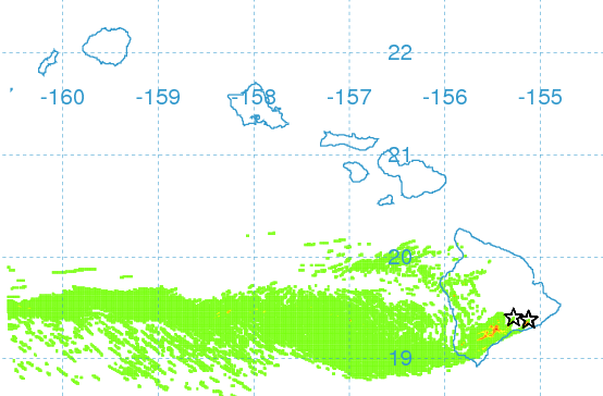 Vog forecast for this afternoon / Image: UHSOEST