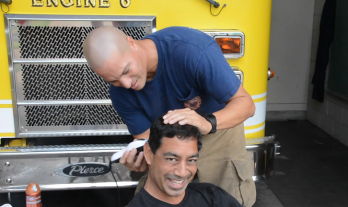 FF III Kepena Segundo donning the clippers.